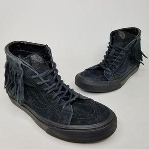 VANS SK8-HI Skirt High Top Skate Shoes 6.5 Black